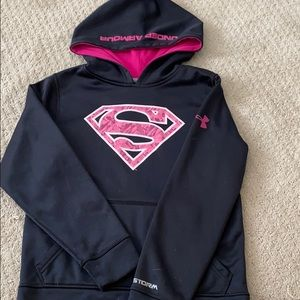 Size youth small under armor superman hoodie